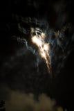 Célébration avec des feux d'artifice Image stock