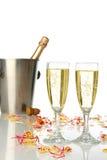 Célébration avec le champagne photographie stock