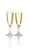 Célébration avec le champagne images libres de droits