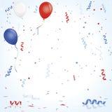 Célébration blanche et bleue rouge Images stock