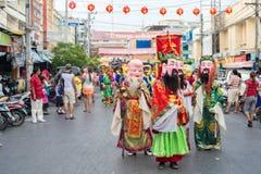 Célébration chinoise de nouvelle année en Thaïlande Images stock
