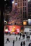 Célébration d'éclairage d'arbre de Noël chez Rockefeller Photos libres de droits