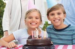 Célébration d'anniversaire photo stock