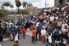 Célébration d'Inti Raymi dans Cotacachi Equateur Image libre de droits