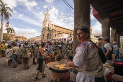 Célébration d'Inti Raymi dans Cotacachi Equateur Photo libre de droits