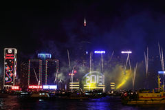 Célébration d'an neuf à Hong Kong 2013 Image stock