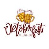 Célébration d'Oktoberfest La calligraphie de tendance Photos stock