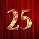 Célébration de 25 ans d'anniversaire Images stock