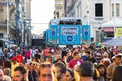 Célébration de carnaval chez Pelourinho en Salvador Bahia, Brésil photographie stock