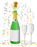 Célébration de Champagne/ENV Photos stock