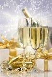 Célébration de Champagne pendant l'année neuve Photo libre de droits
