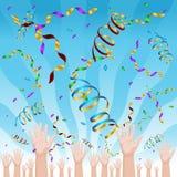 Célébration de confettis Image stock