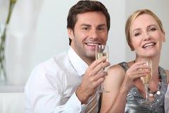Célébration de couples Photographie stock libre de droits