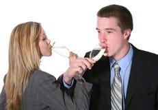 Célébration de couples d'affaires Photos stock