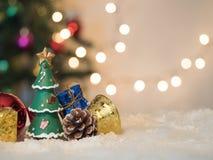 Célébration de décoration sur la neige Images stock