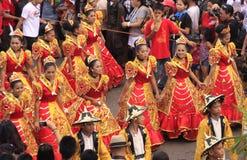 Célébration de défilé de Sinulog Cebu Photo libre de droits