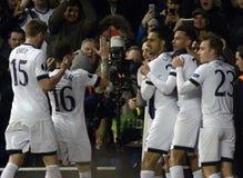 Célébration de but de Tottenham Images libres de droits