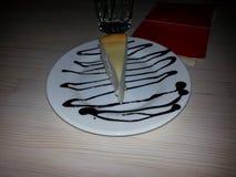 Célébration de dessert de gâteau au fromage Photographie stock libre de droits