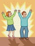 Célébration de femme et d'homme ! Photographie stock libre de droits