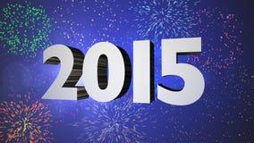 Célébration 2015 de feux d'artifice Photographie stock libre de droits
