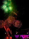 Célébration de feux d'artifice Photo libre de droits