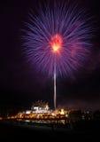 Célébration de feux d'artifice en parc royal Rajapruek Images stock