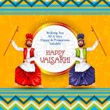 Célébration de fond de Vaisakhi de festival de Punjabi illustration de vecteur