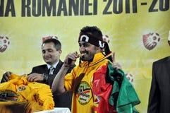 Célébration de footballeur de gagnant Photo libre de droits