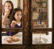 Célébration de Hanukkah Images libres de droits