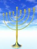 Célébration de Hanukkah. Photos libres de droits