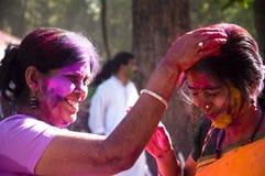 Célébration de Holi Photos libres de droits