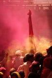 Célébration de Holi chez Barsana Photo stock