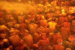 Célébration de Holi chez Barsana Photos libres de droits