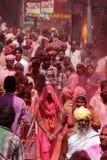 Célébration de Holi chez Barsana Image stock