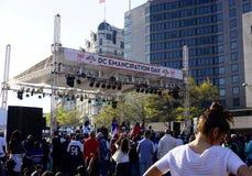 Célébration de jour d'émancipation de C.C Image libre de droits