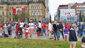 Célébration de jour de Canada Photographie stock libre de droits