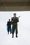 Célébration de jour de parachutistes en parc de Gorki Image libre de droits