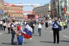 Célébration de jour de victoire à Moscou Photographie stock libre de droits