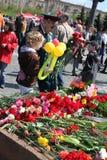 Célébration de jour de victoire en Russie, Moscou Photos stock