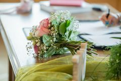 Célébration de jour du mariage, pièce officielle de cérémonie photo stock