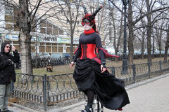 Célébration de jour du ` s de St Patrick à Moscou Photos stock