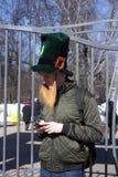 Célébration de jour du ` s de St Patrick à Moscou Images stock