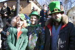 Célébration de jour du ` s de St Patrick à Moscou Image stock