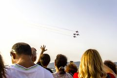 Célébration de Jour de la Déclaration d'Indépendance du ` s d'Izmir Image stock