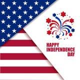 Célébration de Jour de la Déclaration d'Indépendance Illustration de vecteur Photo libre de droits