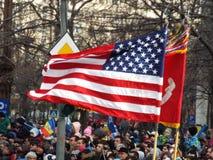 Célébration de jour national de la Roumanie, le 1er décembre 2015 Photographie stock libre de droits