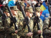 Célébration de jour national de la Roumanie, le 1er décembre 2015 Images stock