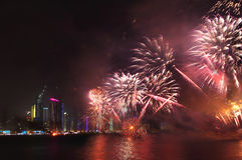 Célébration de jour national du Qatar Photographie stock libre de droits