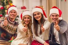 Célébration de Joyeux Noël Photographie stock libre de droits