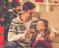 Célébration de Joyeux Noël Photographie stock